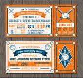 Vector Baseball Event Invites set 2 Royalty Free Stock Image