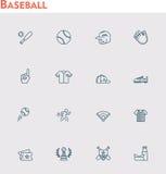 Vector baseball  icon set Stock Photos