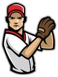 Baseball pitcher. Vector of baseball pitcher in mascot style Stock Photo