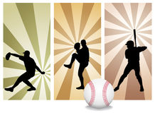Vector Baseball Players Royalty Free Stock Photography