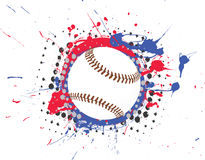 Vector Baseball with Splatter Stock Images