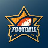 American Football Logo Template. Vector College Logos Illustrati Royalty Free Stock Images