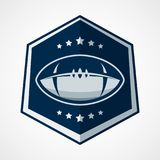 American Football Logo Template. Vector College Logos Illustrati Stock Image
