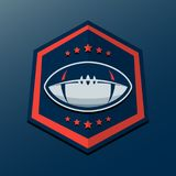 American Football Logo Template. Vector College Logos Illustrati Stock Images