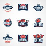 Set of American Football Logo Template. Vector College Logos Ill. This is Vector based - American Football Logo Set that can be scale to any size without losing vector illustration