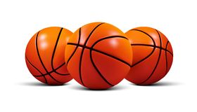 Vector Basketball ball  on a white background. Realistic 3d ball. S Royalty Free Stock Images