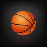 Vector basketball, on black background Stock Photo
