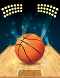Vector Basketball Court Stock Photo