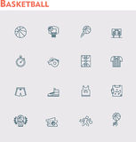 Vector basketball icon set Royalty Free Stock Photos