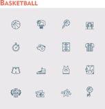 Vector basketball icon set Royalty Free Stock Photos