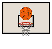 Vector Basketball Net And Backboard Royalty Free Stock Image
