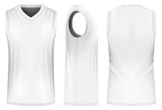Vector basketball tank top. Basketball tank top, front, back and side views. Fully editable handmade mesh. Vector illustration Stock Photos