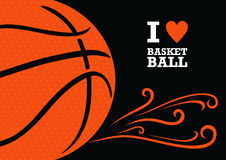 Vector basketball themed background Royalty Free Stock Photos