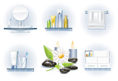 Vector bath icon set. Set of bath and spa related icons Royalty Free Stock Image