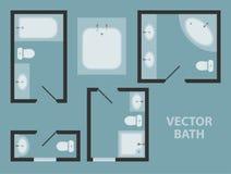 Vector bathroom Stock Image