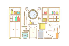 Vector Bathroom Interior. Royalty Free Stock Photos