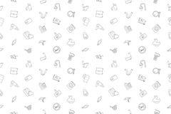 Vector Bathroom pattern. Bathroom seamless background. Vector illustration Royalty Free Stock Photos