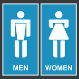 Vector of bathroom signs Royalty Free Stock Photo