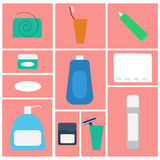Vector bathroom supplies Royalty Free Stock Image
