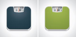 Vector bathroom weight scale icon Stock Image