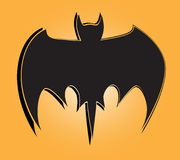 Vector bats silhouettes Stock Photography