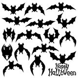 Vector. Bats silhouettes. Stock Images