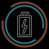 Vector Battery charging - power Battery illustration, electricity symbol - energy sign vector illustration