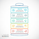Vector battery element for infographic. Royalty Free Stock Photography