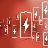 Vector battery icon background Stock Photos