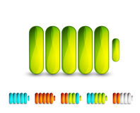 Vector battery icons Royalty Free Stock Images