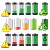 Vector Battery Icons Set Royalty Free Stock Photo