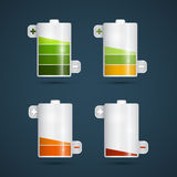 Vector Battery Life Symbols Set Royalty Free Stock Photo