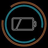 Vector Battery low charging - power Battery royalty free illustration