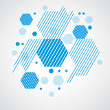 Vector Bauhaus abstract background made with grid and overlappin Stock Photo