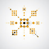 Vector Bauhaus abstract background made with grid  Royalty Free Stock Photography