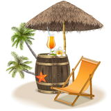 Vector Beach Bar Concept Royalty Free Stock Photo