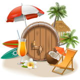 Vector Beach Bar Royalty Free Stock Image