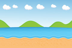 Vector : beach cartoon Stock Images