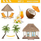 Vector Beach Icons Set 2 Royalty Free Stock Photo