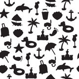 Vector beach pattern for summer Royalty Free Stock Image
