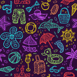 Vector beach pattern for summer. Stock Photography