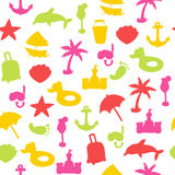 Vector beach pattern for summer. Endless texture for wallpaper, fill Royalty Free Stock Photo