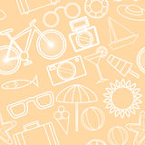 Vector beach pattern for summer Royalty Free Stock Images