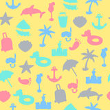 Vector beach pattern for summer. Stock Image