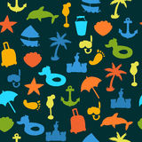 Vector beach pattern for summer Royalty Free Stock Photography