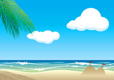 Vector beach with ripple Royalty Free Stock Images