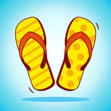 Vector beach slippers Stock Images