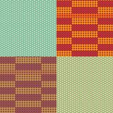 Vector beadwork models seamless pattern set Royalty Free Stock Image