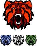 Vector Bear Mascot Logo. Vector Illustration of Bears Mascot Logos Royalty Free Stock Images