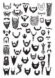 51 Vector Beard Doodles Royalty Free Stock Photo